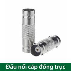Đầu nối cáp đồng trục BNC 2 đầu âm cho Camera (loại ngạnh gài)
