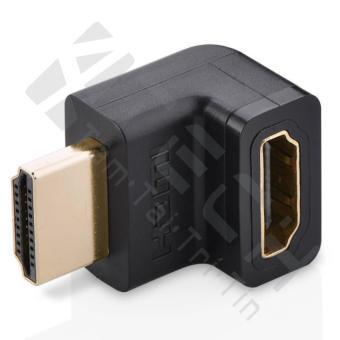 Đầu nối cổng HDMI male sang HDMI female vuông góc 90 độ (Đen)
