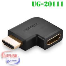 Đầu nối cổng HDMI sang HDMI vuông góc 90 độ – UGREEN 20111 – (màu đen)