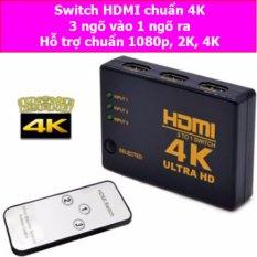 Đầu nối tín hiệu HDMI cho tivi 3 ngõ vào 1 ngõ ra chuẩn 4K 2K (Đen)