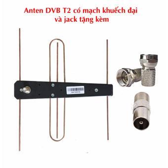 Đầu thu DVB T2 Hùng Việt TS 123 tặng Anten khuếch đại và jack nối cáp