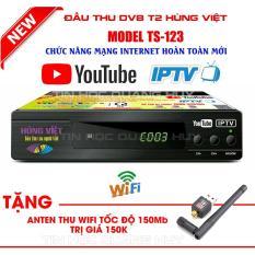Đầu thu DVB T2 Hùng Việt TS 123 xem Youtube, IPTV phiên bản 2018 tặng anten wifi
