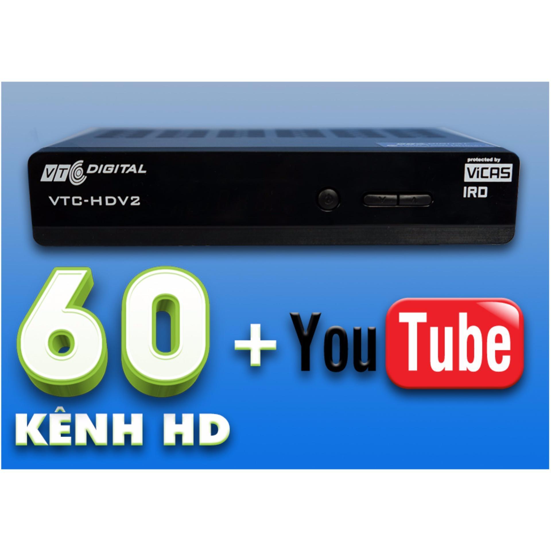 Đầu thu VTC HD V2 Thêm tính năng kết nối YouTube