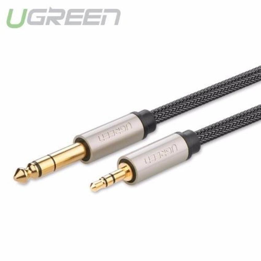 Dây âm thanh 3.5mm đực sang 6.5mm mạ vàng 24k cao cấp dài 1.5M UGREEN AV127 10627