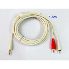 Dây cable loa 1 đầu 3.5 ra 2 AV dài 1.8m