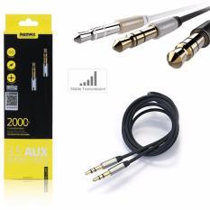 Dây cáp âm thanh chất lượng cao Audio 3.5 AUX Remax 2 đầu đực dài 1m