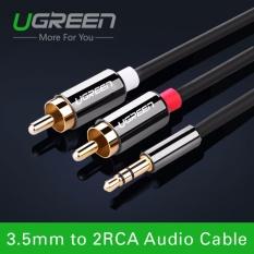 Dây cáp Audio 3,5mm ra 2 đầu RCA (Hoa sen) dài 1.5M UGREEN AV116 10583 (màu đen)