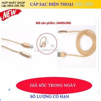 dây cáp dùng cho Ipad, iphone5,6,7 sạc siêu(bền bọc dù chống gập,xoắn