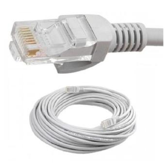Dây cáp mạng AMPLX 2 đầu chống nhiễu 30m (Trắng)