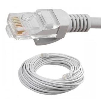 Dây cáp mạng AMPLX 2 đầu chống nhiễu 4m (Trắng)