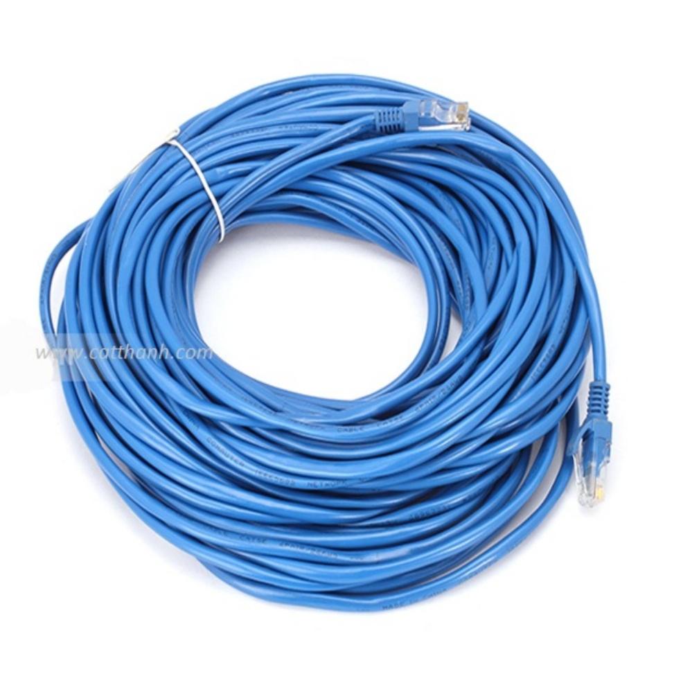 Dây cáp mạng CAT5E UTP bấm sẵn 2 đầu 15 Mét (Trắng, xanh – Mới 100%)