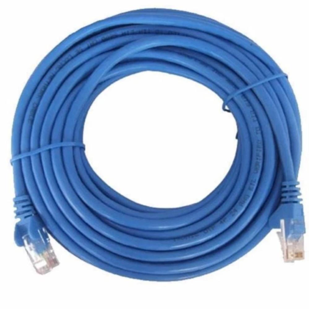 Dây cáp mạng CAT5E UTP bấm sẵn 2 đầu 40 Mét (Màu xanh – Mới 100%)