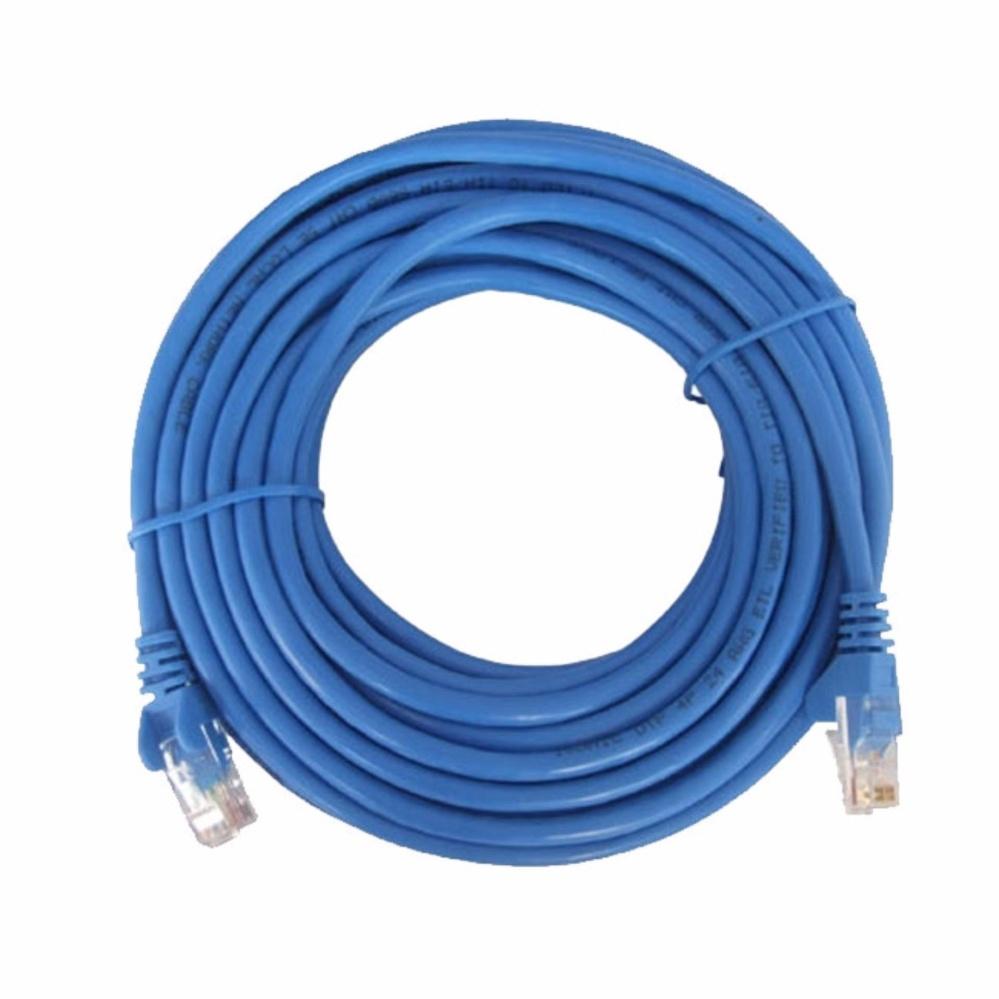 Dây cáp mạng CAT5E UTP bấm sẵn 2 đầu 7 Mét (Trắng, xanh – Mới 100%)