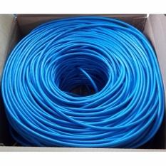 Dây cáp mạng CAT6E UTP bấm sẵn 2 đầu 110 Mét (Trắng, xanh – Mới 100%)