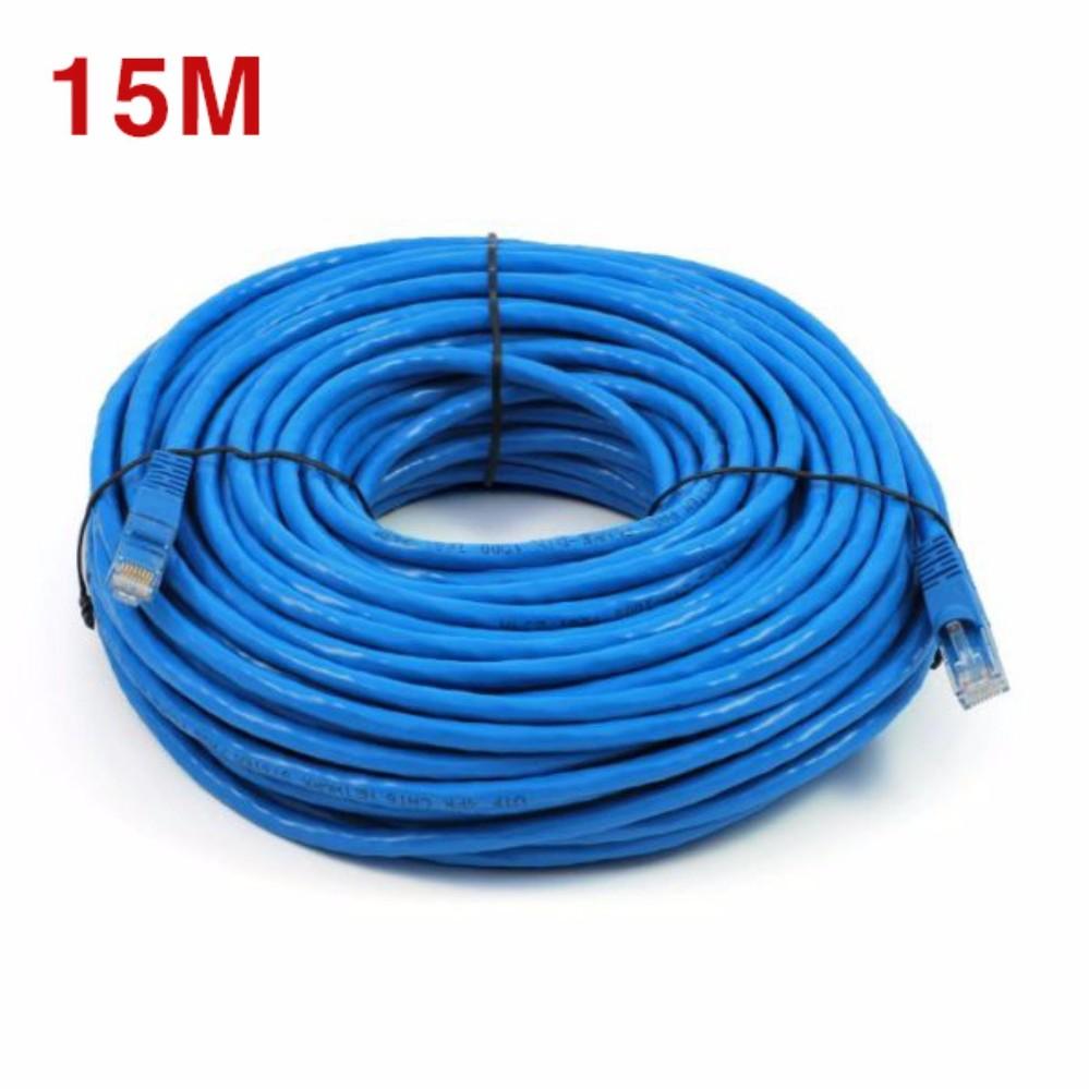 Dây Cáp mạng internet/ Mạng LAN K&H 2 đầu đúc sẵn 15M loại tốt