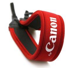 Dây đeo chống mỏi JYC cho máy ảnh Canon (Đỏ phối trắng).