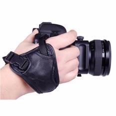 Dây đeo máy ảnh hỗ trợ cầm 1 tay có khoá cổ tay da PU CV35