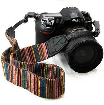 Dây đeo máy ảnh chống mỏi thổ cẩm - Q00121 - 2