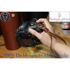 Dây đeo máy ảnh cổ tay hand trap C1 (da bò nguyên khối cao cấp)