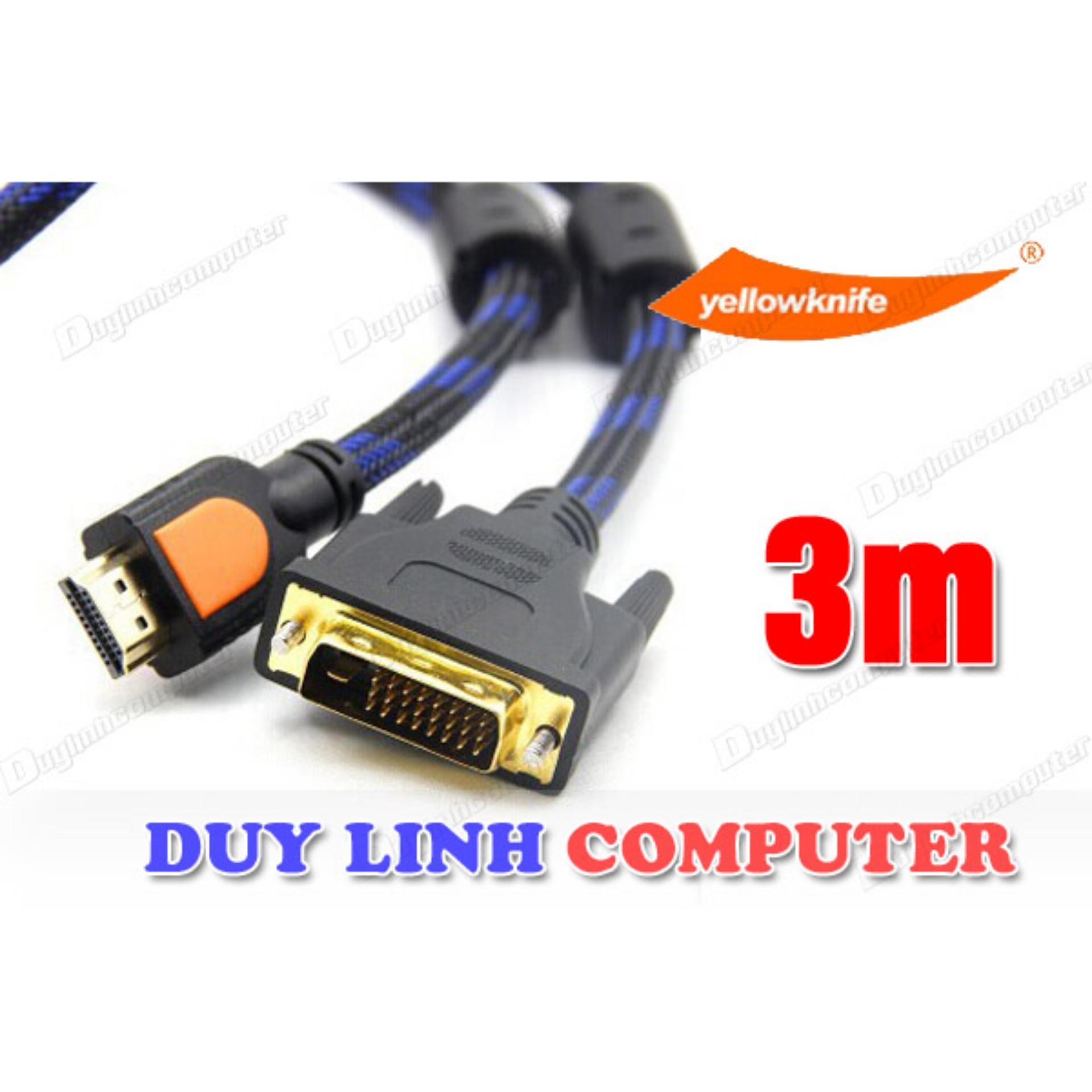 Dây HDMI to DVI 3m YellowKnife