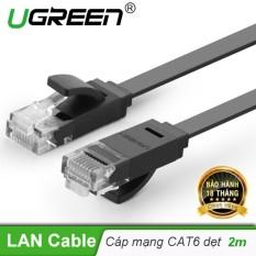 Dây mạng 2 đầu đúc Cat6 UTP dây dẹt dài 2m UGREEN NW104 11236 – Hãng phân phối chính thức