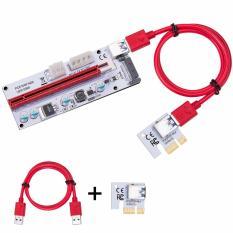 Dây Riser PCI EXPRESS 1X TO 16X USB 3.0 (Đỏ Đen Xanh)