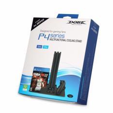 Đế đứng DOBE có quạt kèm dock sạc tay và khay để đĩa cho các loại PS4