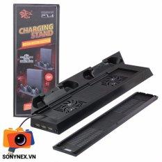 Đế dựng PS4 Slim (Dock sạc + Quạt) Nhập khẩu