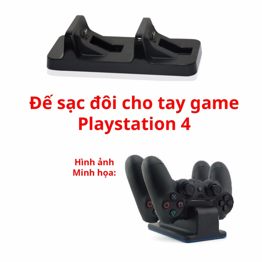 Đế sạc cho 2 tay cầm Playstation 4 kiêm giá đỡ
