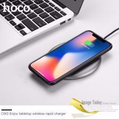 Đế sạc không dây đa năng sạc nhanh chuẩn Qi cho iphone X , iphone 8, Note8 Hoco CW3