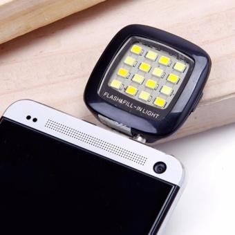 Đèn flash 16 Led hỗ trợ chụp hình cho điên thoại (Đen)