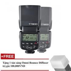 Đèn Flash Godox TT600 cho Canon, Nikon, Sony, Pentax – GN60 – HSS 1/8000s Remote 2.4GHz – Tặng kèm tản sáng Omni bouce
