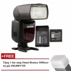 Đèn Flash Godox V860II Cho Canon (Kèm pin và sạc) – Tặng tản sáng Omni bouce