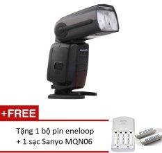 Đèn Flash Shanny SN600N dành cho Nikon + 1 bộ eneloop trắng + sạc Sanyo MQN06