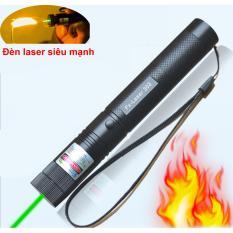 Đèn laser 303 FX 532nm siêu sáng chiếu xa (tia xanh) kèm phụ kiện lens vạn hoa pin sạc