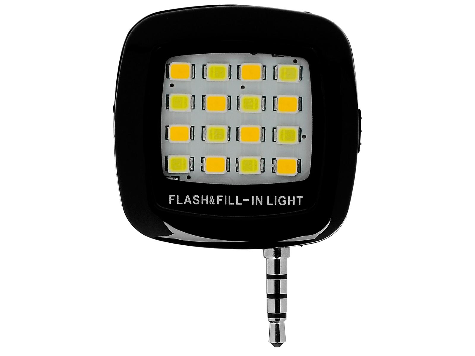 Đèn led chụp ảnh cho smartphone iPhone, samsung 16 bóng (đen)