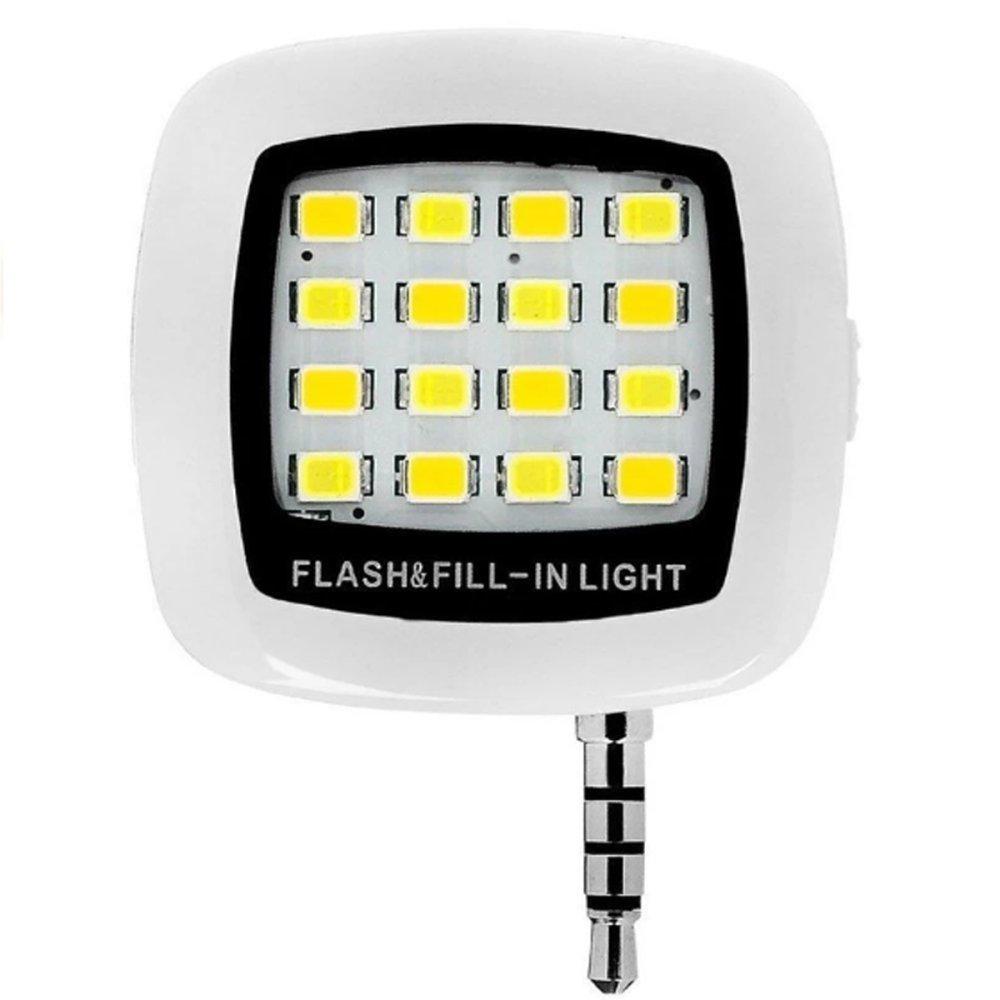 Đèn LED flash 16 bóng cực sáng hỗ trợ selfie