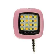 Đèn LED hỗ trợ chụp hình điện thoại 16 bóng VNR ( hồng )