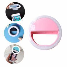 Đèn LED kẹp điện thoại hỗ trợ chụp hình Selfie N01 Detek màu Hồng