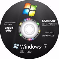 Đĩa Cài window 7 ultimate 32bit (KM office 2007) driver full có video hướng dẫn
