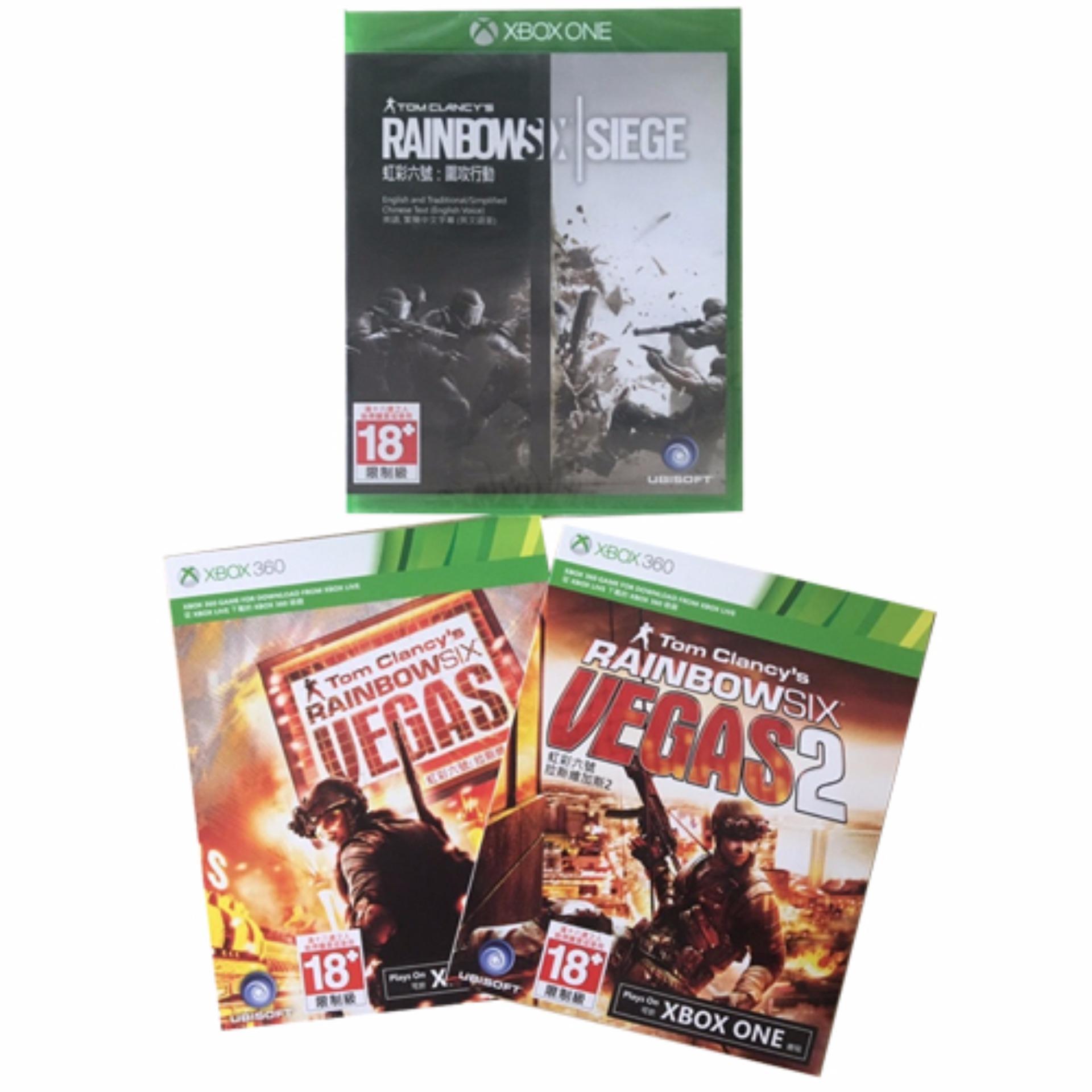Đĩa game Tom Clancys Rainbow Six: Siege cho máy Xbox One ( Kèm 2 thẻ game Tom Clancy's Rainbow Six Vegas )