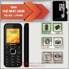 Điện thoại 2 sim 2 sóng Bavapen B11 (Đen)+ Tặng 1 thẻ nhớ 16gb