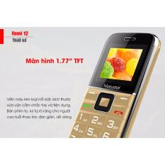 [Hàng hot] Điện thoại di động dành cho người già Masstel Fami 12 số to, đọc số, âm thanh lớn 1000000907
