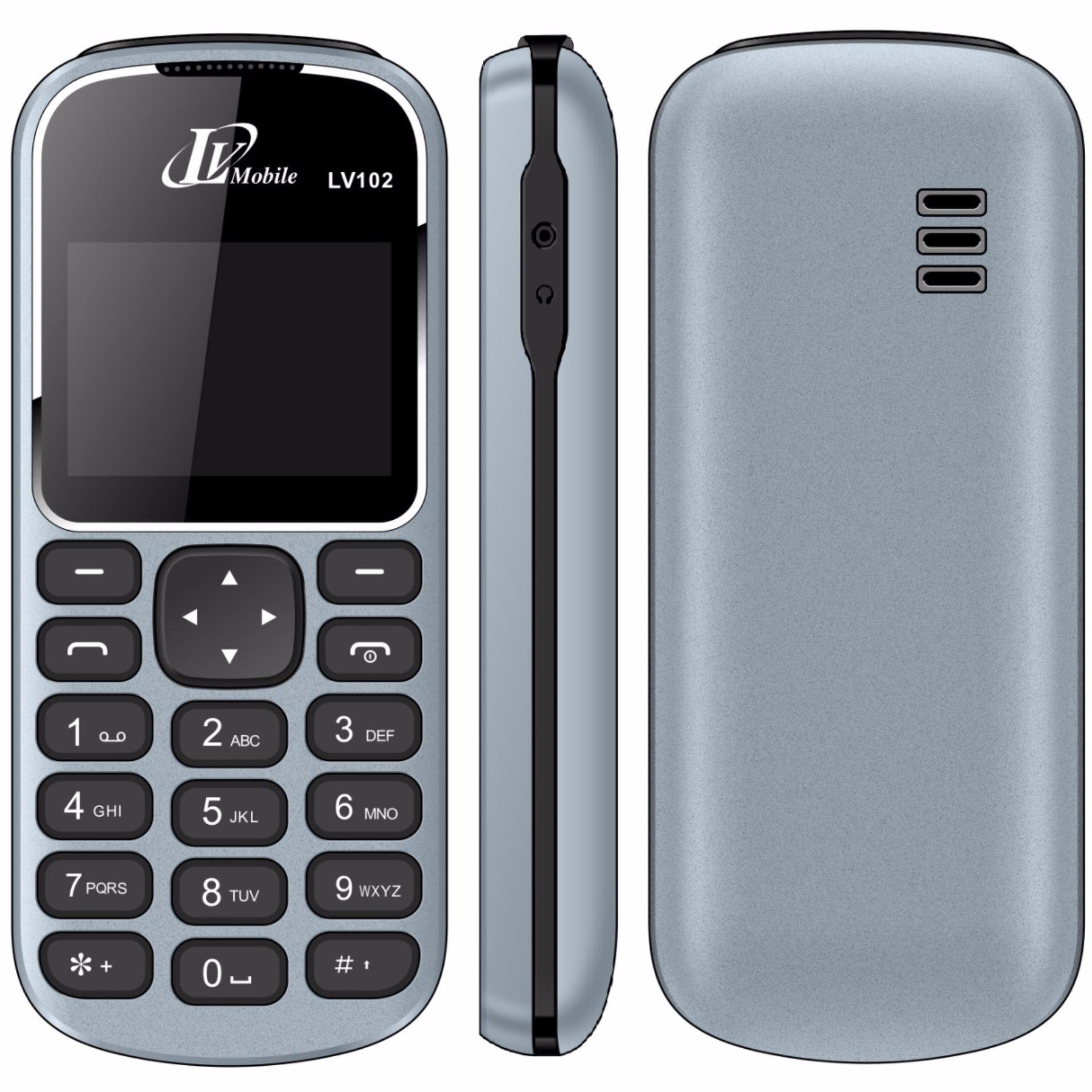 (VỀ LẠI ĐỦ MÀU) Điện thoại RẺ BỀN LV102 chính hãng BH 12T TẶNG 2 (Tặng Túi Chống Nước + Khăn Lau Máy)