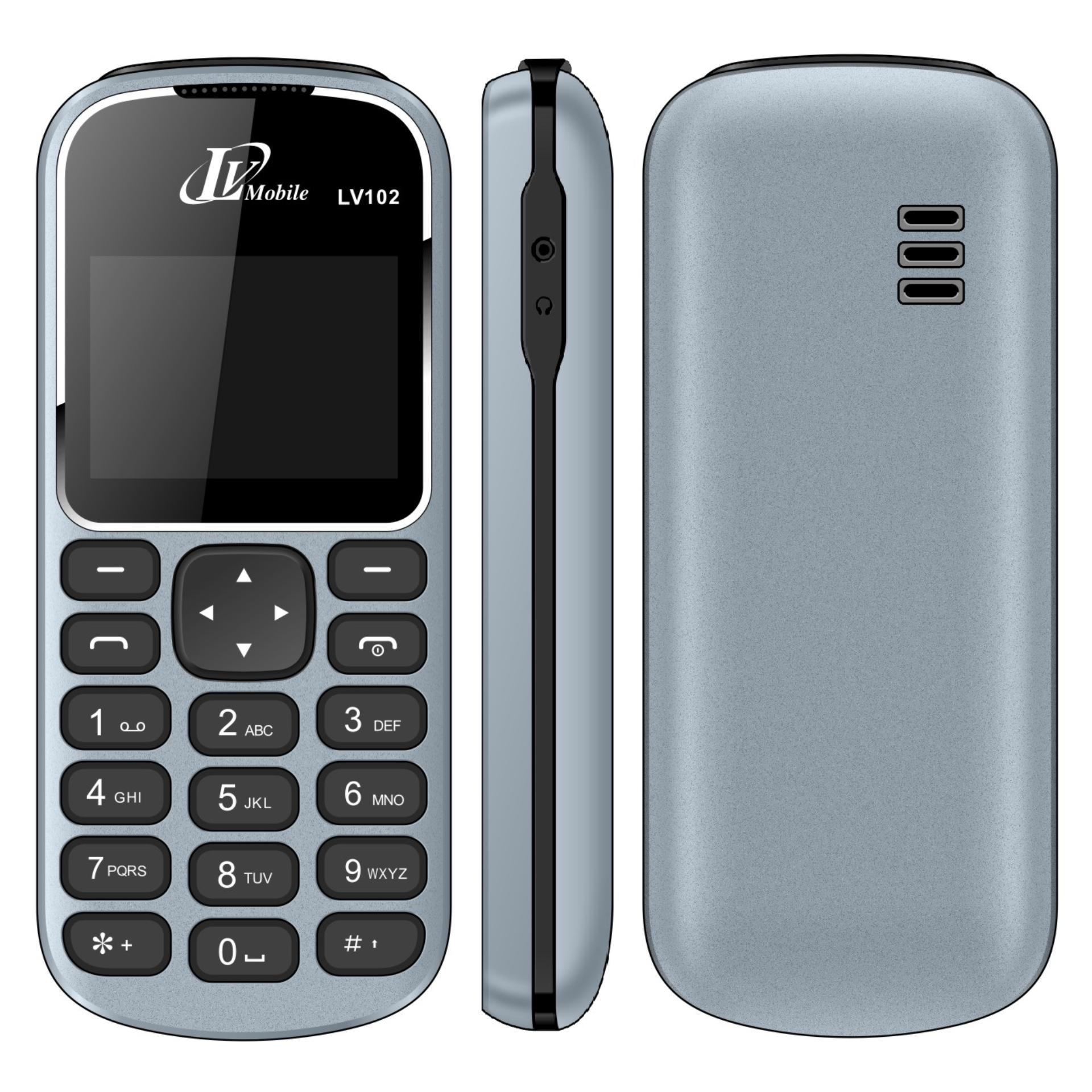 Điện thoại LV102 1sim ( Xám)- Hàng nhập khẩu BH 12 tháng