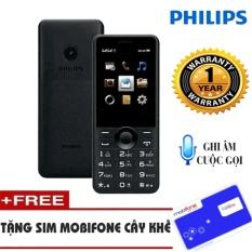 Nên mua Điện thoại Philips E168 Đen Không Kèm Thẻ Nhớ – Tặng Sim Mobifone cây khế ở Hanoitechbuy