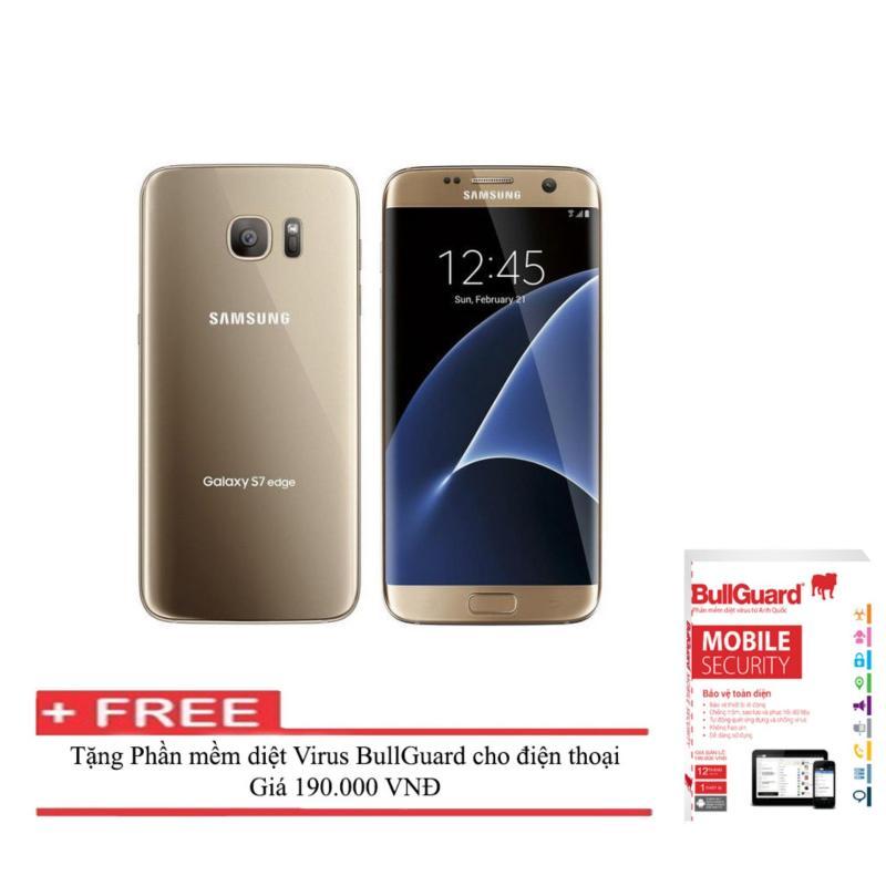 Điện thoại Samsung Galaxy S7 edge 32GB ( Vàng ) RAM 4GB  + Phần mềm diệt Virus BULLGUARD (Anh quốc) - Hàng nhập khẩu