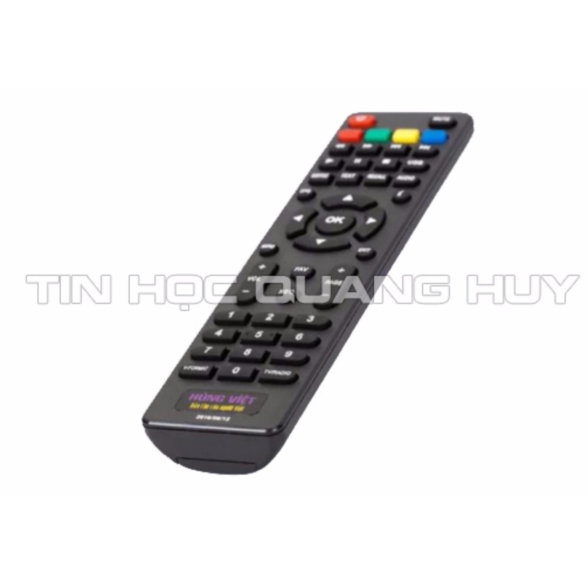 Điều khiển đầu thu DVB T2 Hùng Việt - Loại không có học lệnh