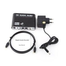 Kỹ thuật số DTS AC3 Âm Thanh Âm Thanh Vòm Bộ Giải Mã Quang Optical Analog SPDIF Pro (Phích Cắm CHÂU ÂU)-quốc tế