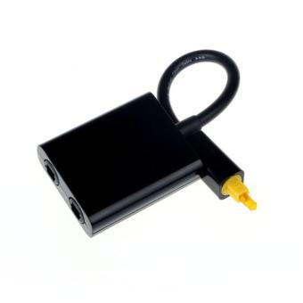 Digital Toslink Optical Fiber Audio 1 to 2 Female Splitter Adapter